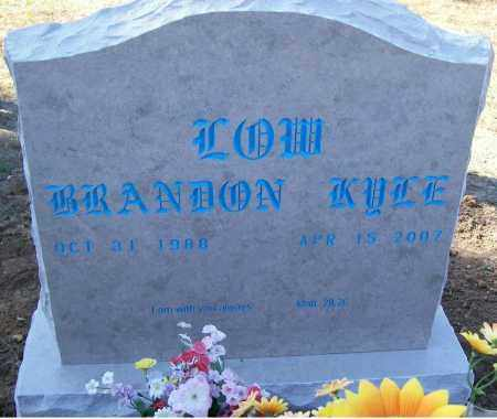 LOW, BRANDON KYLE - Independence County, Arkansas | BRANDON KYLE LOW - Arkansas Gravestone Photos