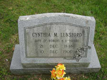LUNSFORD, CYNTHIA - Independence County, Arkansas | CYNTHIA LUNSFORD - Arkansas Gravestone Photos