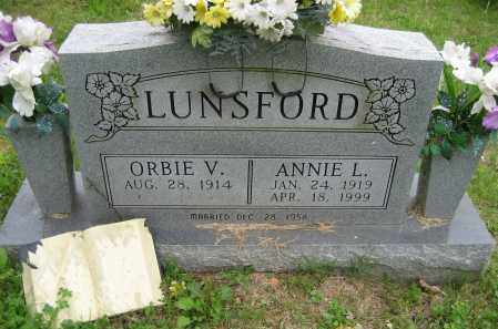 LUNSFORD, ORBIE V. - Independence County, Arkansas | ORBIE V. LUNSFORD - Arkansas Gravestone Photos