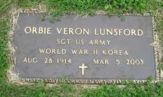 LUNSFORD  (VETERAN 2 WARS), ORBIE VERON - Independence County, Arkansas | ORBIE VERON LUNSFORD  (VETERAN 2 WARS) - Arkansas Gravestone Photos