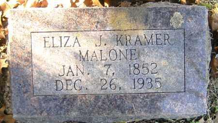 MALONE,, ELIZA J. KRAMER - Independence County, Arkansas   ELIZA J. KRAMER MALONE, - Arkansas Gravestone Photos