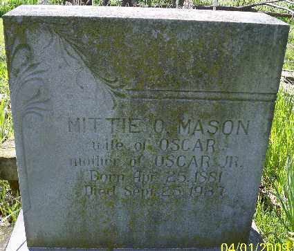 MASON, MITTIE O. - Independence County, Arkansas | MITTIE O. MASON - Arkansas Gravestone Photos