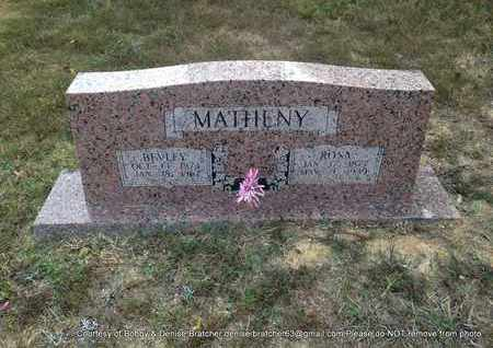 MATHENY, BEVLEY HARRISON - Independence County, Arkansas | BEVLEY HARRISON MATHENY - Arkansas Gravestone Photos
