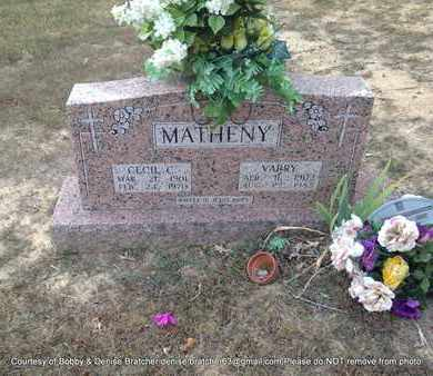 MATHENY, CECIL C - Independence County, Arkansas | CECIL C MATHENY - Arkansas Gravestone Photos