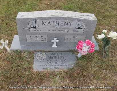 MATHENY, ALIE - Independence County, Arkansas | ALIE MATHENY - Arkansas Gravestone Photos