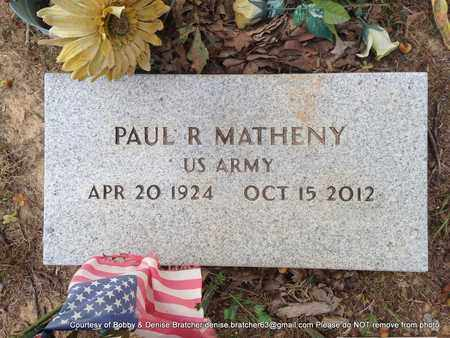 MATHENY, PAUL R - Independence County, Arkansas | PAUL R MATHENY - Arkansas Gravestone Photos