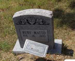 MATTO, RUBY E - Independence County, Arkansas | RUBY E MATTO - Arkansas Gravestone Photos