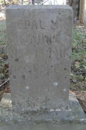 MAUNZ, OPAL M. - Independence County, Arkansas | OPAL M. MAUNZ - Arkansas Gravestone Photos