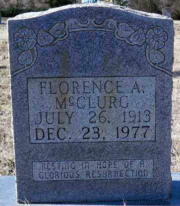 MCCLURG, FLORENCE A. - Independence County, Arkansas   FLORENCE A. MCCLURG - Arkansas Gravestone Photos