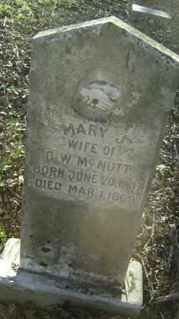 MCNUTT, MARY J. - Independence County, Arkansas | MARY J. MCNUTT - Arkansas Gravestone Photos