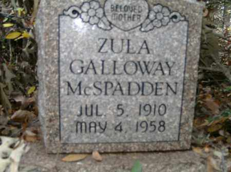 GALLOWAY MCSPADDEN, ZULA - Independence County, Arkansas | ZULA GALLOWAY MCSPADDEN - Arkansas Gravestone Photos