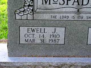 MCSPADDEN, EWELL J. - Independence County, Arkansas | EWELL J. MCSPADDEN - Arkansas Gravestone Photos