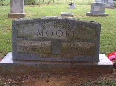 HOLCOMBE MOORE, MAURICE INEZ - Independence County, Arkansas | MAURICE INEZ HOLCOMBE MOORE - Arkansas Gravestone Photos