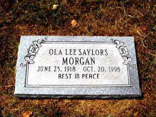 SAYLORS MORGAN, OLA LEE - Independence County, Arkansas | OLA LEE SAYLORS MORGAN - Arkansas Gravestone Photos