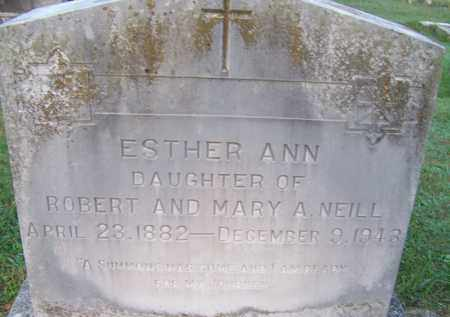 NEILL, ESTHER ANN - Independence County, Arkansas | ESTHER ANN NEILL - Arkansas Gravestone Photos