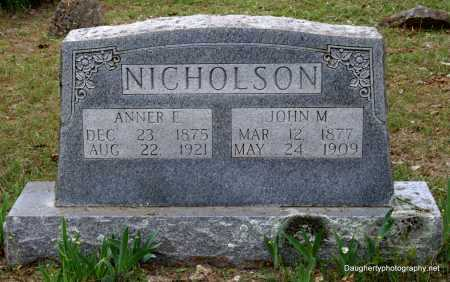 NICHOLSON, ANNER - Independence County, Arkansas | ANNER NICHOLSON - Arkansas Gravestone Photos