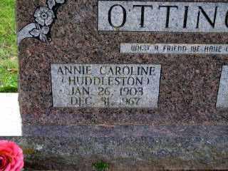 HUDDLESTON OTTINGER, ANNIE CAROLINE - Independence County, Arkansas | ANNIE CAROLINE HUDDLESTON OTTINGER - Arkansas Gravestone Photos