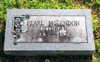 MCCLENDON OTTINGER, PEARL - Independence County, Arkansas | PEARL MCCLENDON OTTINGER - Arkansas Gravestone Photos
