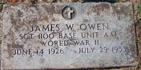 OWEN (VETERAN WWII), JAMES W - Independence County, Arkansas | JAMES W OWEN (VETERAN WWII) - Arkansas Gravestone Photos