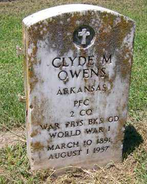 OWENS  (VETERAN WWI), CLYDE M. - Independence County, Arkansas   CLYDE M. OWENS  (VETERAN WWI) - Arkansas Gravestone Photos