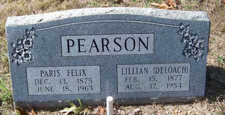 PEARSON, PARIS FELIX - Independence County, Arkansas | PARIS FELIX PEARSON - Arkansas Gravestone Photos