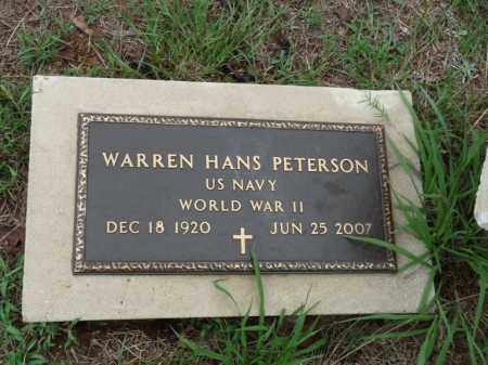PETERSON (VETERAN WWII), WARREN HANS - Independence County, Arkansas | WARREN HANS PETERSON (VETERAN WWII) - Arkansas Gravestone Photos