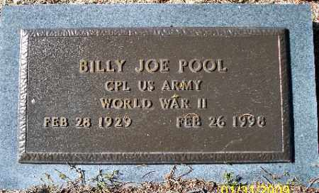 POOL (VETERAN WWII), BILLY JOE - Independence County, Arkansas | BILLY JOE POOL (VETERAN WWII) - Arkansas Gravestone Photos