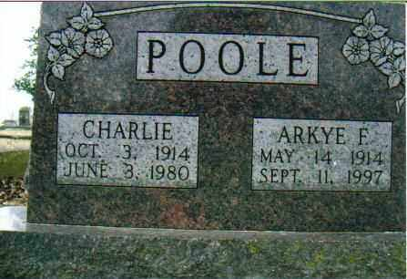 POOLE, CHARLIE - Independence County, Arkansas | CHARLIE POOLE - Arkansas Gravestone Photos