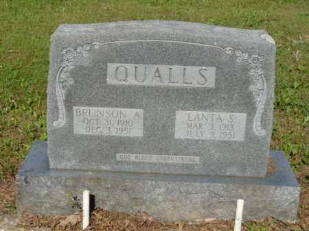 QUALLS, LANTA S. - Independence County, Arkansas   LANTA S. QUALLS - Arkansas Gravestone Photos