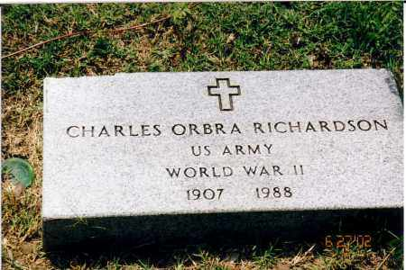 RICHARDSON  (VETERAN WWII), CHARLES ORBA - Independence County, Arkansas | CHARLES ORBA RICHARDSON  (VETERAN WWII) - Arkansas Gravestone Photos