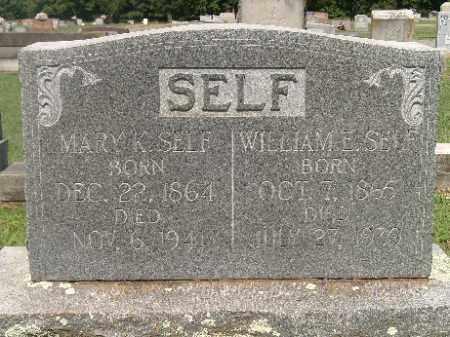 SELF, MARY K - Independence County, Arkansas | MARY K SELF - Arkansas Gravestone Photos