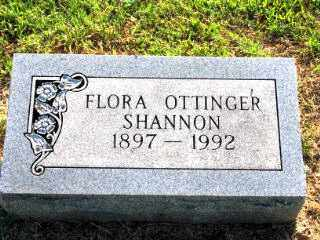 OTTINGER SHANNON, FLORA - Independence County, Arkansas | FLORA OTTINGER SHANNON - Arkansas Gravestone Photos