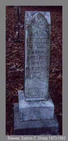 SHARP, SABIRA C. - Independence County, Arkansas | SABIRA C. SHARP - Arkansas Gravestone Photos