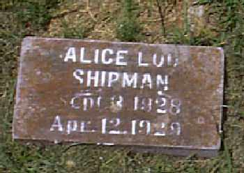 SHIPMAN, ALICE LOU - Independence County, Arkansas | ALICE LOU SHIPMAN - Arkansas Gravestone Photos