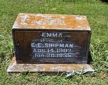 SHIPMAN, EMMA - Independence County, Arkansas | EMMA SHIPMAN - Arkansas Gravestone Photos