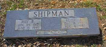 SHIPMAN, EDITH A - Independence County, Arkansas | EDITH A SHIPMAN - Arkansas Gravestone Photos