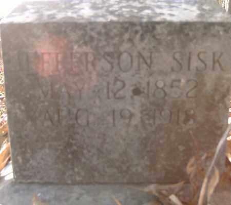 SISK,, JEFFERSON - Independence County, Arkansas | JEFFERSON SISK, - Arkansas Gravestone Photos