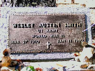 SMITH  (VETERAN WWII), WESLEY AUSTIN - Independence County, Arkansas | WESLEY AUSTIN SMITH  (VETERAN WWII) - Arkansas Gravestone Photos