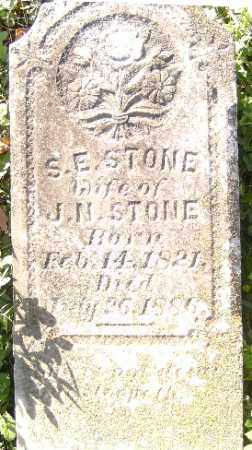 STONE, S. E. - Independence County, Arkansas | S. E. STONE - Arkansas Gravestone Photos