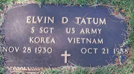 TATUM (VETERAN 2 WARS), ELVIN D - Independence County, Arkansas | ELVIN D TATUM (VETERAN 2 WARS) - Arkansas Gravestone Photos