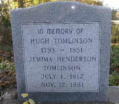 TOMLINSON, HUGH - Independence County, Arkansas | HUGH TOMLINSON - Arkansas Gravestone Photos
