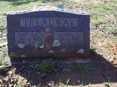 DECK TREADWAY, JANE - Independence County, Arkansas   JANE DECK TREADWAY - Arkansas Gravestone Photos