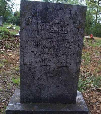 WEAVER, MINNIE ELIZABETH - Independence County, Arkansas   MINNIE ELIZABETH WEAVER - Arkansas Gravestone Photos