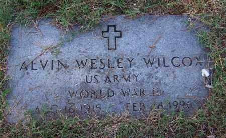 WILCOX (VETERAN WWII), ALVIN WESLEY - Independence County, Arkansas | ALVIN WESLEY WILCOX (VETERAN WWII) - Arkansas Gravestone Photos