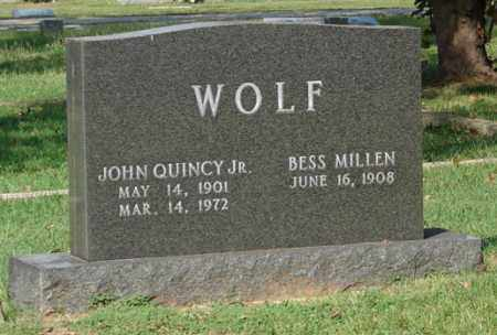 WOLF, JOHN QUINCY, JR. - Independence County, Arkansas | JOHN QUINCY, JR. WOLF - Arkansas Gravestone Photos
