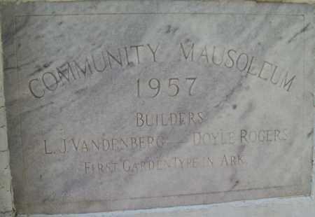 *OAK LAWN COMMUNITY MAUSOLEUM,  - Independence County, Arkansas    *OAK LAWN COMMUNITY MAUSOLEUM - Arkansas Gravestone Photos