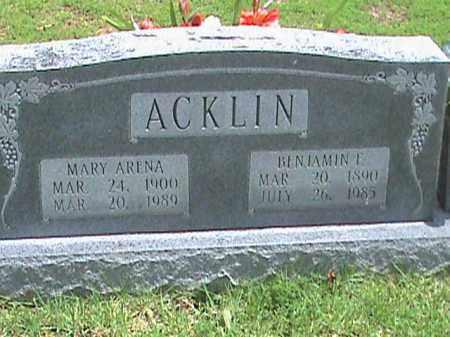 ACKLIN, BENJAMIN E. - Izard County, Arkansas | BENJAMIN E. ACKLIN - Arkansas Gravestone Photos