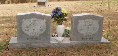 ACKLIN, SYLVIA G - Izard County, Arkansas | SYLVIA G ACKLIN - Arkansas Gravestone Photos