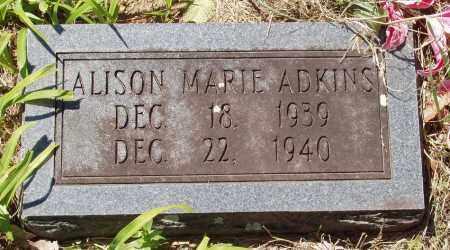 ADKINS, ALISON MARIE - Izard County, Arkansas   ALISON MARIE ADKINS - Arkansas Gravestone Photos