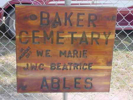 *, BAKER CEMETERY SIGN - Izard County, Arkansas | BAKER CEMETERY SIGN * - Arkansas Gravestone Photos